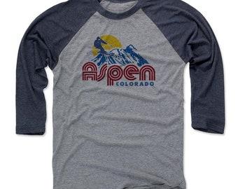 Colorado Lifestyle Aspen Colorado Skiing Aspen Men/'s Cotton T-Shirt