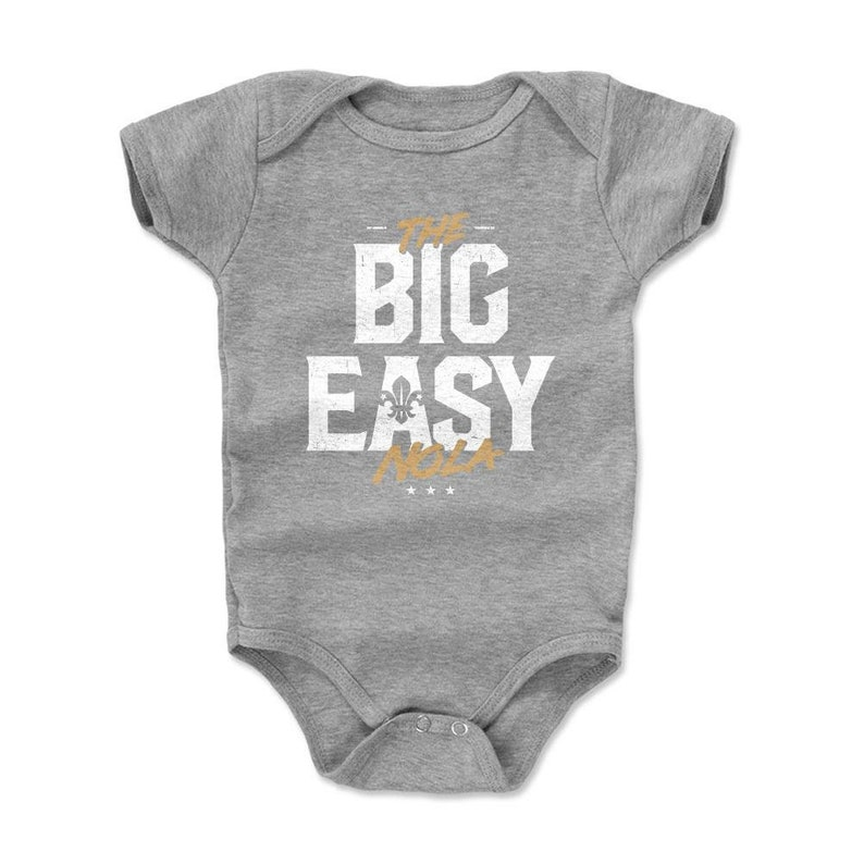 New Orleans Kids Baby Romper Louisiana Lifestyle New Orleans Louisiana The Big Easy WHT