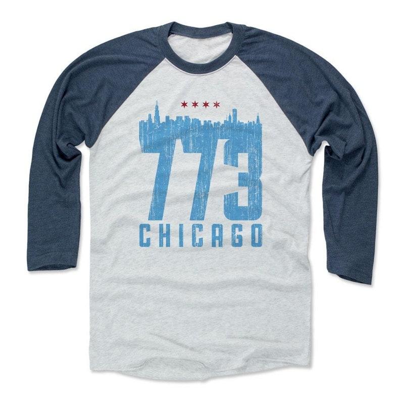 Illinois Lifestyle Chicago Illinois Skyline 773 Chicago Men/'s Baseball T-Shirt