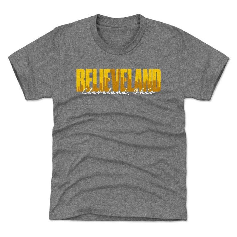 Ohio Lifestyle Cleveland Ohio Believeland WHT Cleveland Kids T-Shirt