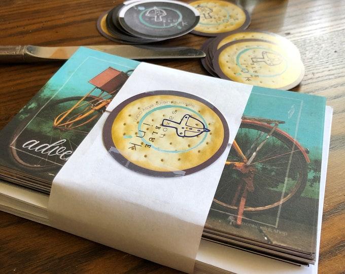 "Travel Photography Mixed Set notecards, 4x6"" hvyweight 14pt flat blank cards, set of 12 (2 ea design) w/ env"