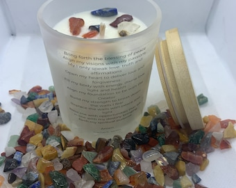 Mixed Crystal Meditation/Prayer Candle