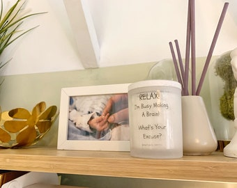 Pregnancy Slogan Candle- handmade- pregnancy announcement gift, scented candle, aromatherapy
