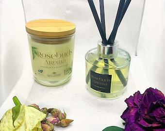 Candle and Reed Diffuser Gift Set- Ginger Lily and Ylang Ylang