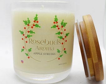 Soy Candles-Bakery scents- hand-poured, white candle, soy candle