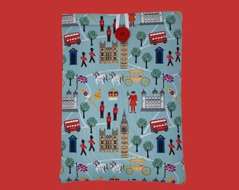 """LONDON CALLING (blue) """"Page & Pocket"""" Book Sleeve"""