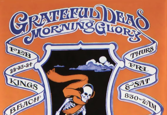 1968 The Grateful Dead Concert Poster Trip /& Ski King/'s Beach Bowl
