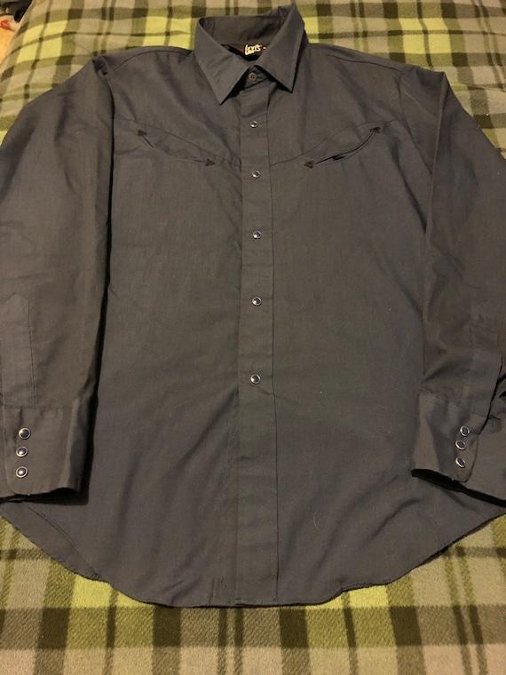 MINT! Vintage Levi's Western Shirt Men's XL 70s - image 6