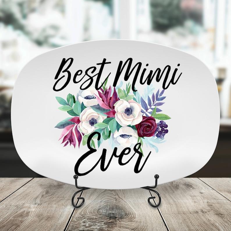 Nona Mom Mimi Mothers Day Platter Best Mimi Ever Platter Gift for Nana Serving Tray Serving Platter