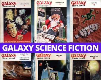 Galaxy Science Fiction Collection - 162 PDF Pulp Magazines - Digital Download - Sci-Fi Fiction
