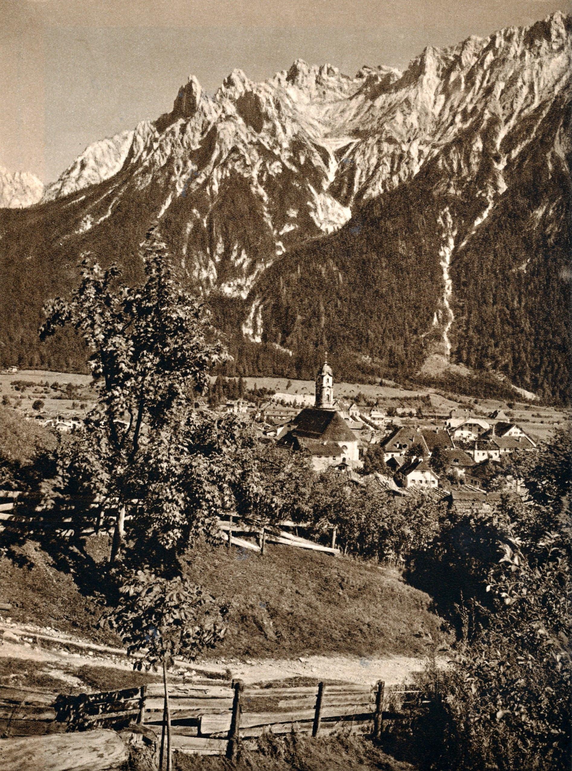 Mittenwald Karwendel 1924 Photogravüre Heliogravüre | Etsy