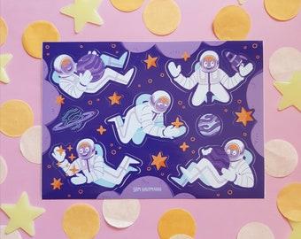 Little Astronauts || Stickersheet