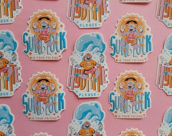 Summer astronauts || Vinyl stickers