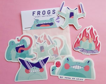 Cool Frogs || Stickerpack