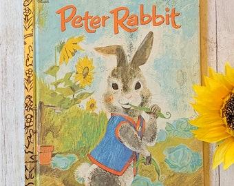 Vintage 1977 Peter Rabbit Book, Golden Book, Children's Book, Vintage Storybook, Beatrix Potter, Junk Journal, Peter Rabbit, Picture Book