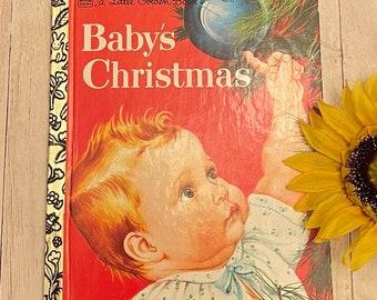 Vintage Baby's Christmas, Golden Book, Children's Book, Vintage Christmas, Christmas Book, Christmas Story, Junk Journal, Eloise Willkin