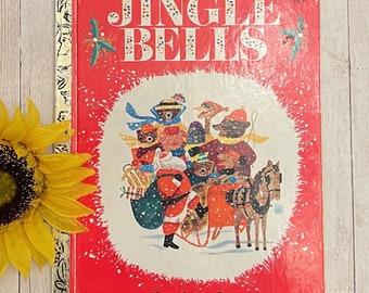 Vintage Jingle Bells Book, Little Golden Book, Children's Book, Picture Book, Christmas Book, Christmas Story, Junk Journal, Storybook