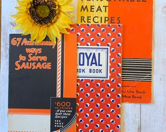 Vintage Cookbook Lot, Vintage Advertising, Vintage Cookbooks, Recipe Books, Vintage Recipes, Vintage Ephemera, Junk Journal, Retro Recipes