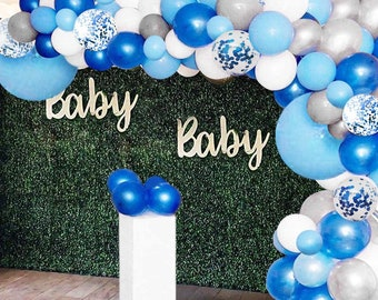 64 PIECE BABY SHOWER BALLOON ARCH KIT BOY GIRL PARTY DECORATION CELEBRATION