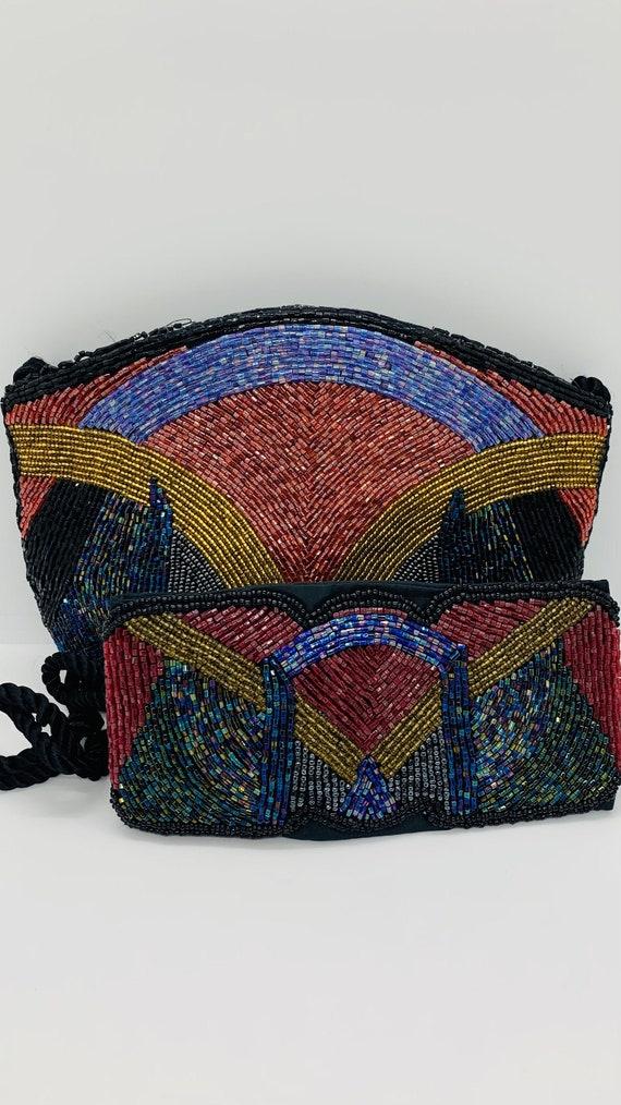 Rhiannon Beaded Bag/ Matching Beaded Belt, Luxury
