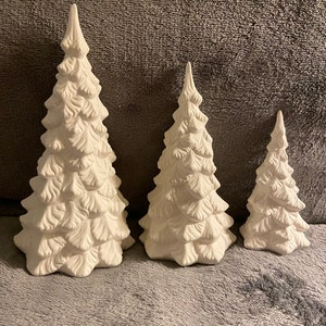 Ceramic Bisque Christmas Tree Napkin Holder Ready to Paint