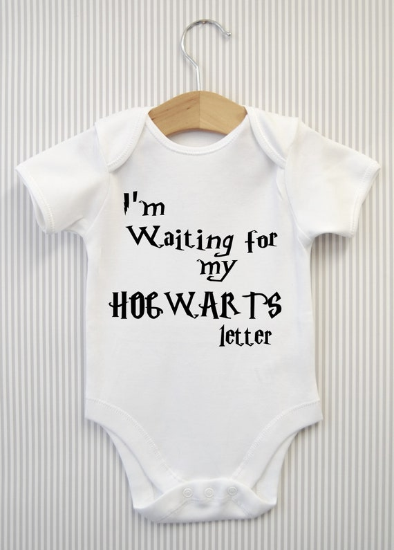 OFFICIAL Harry Potter waiting for my letter Hogwarts Baby bodysuit grow Gift new