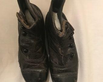 Vintage leather shoe | Etsy