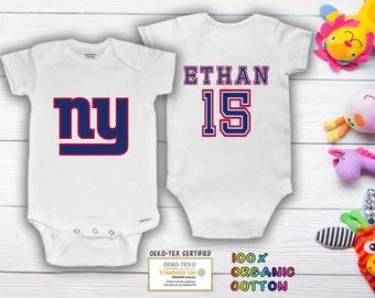 bodysuit Giants customized personalized NAME NUMBER ny new york baby
