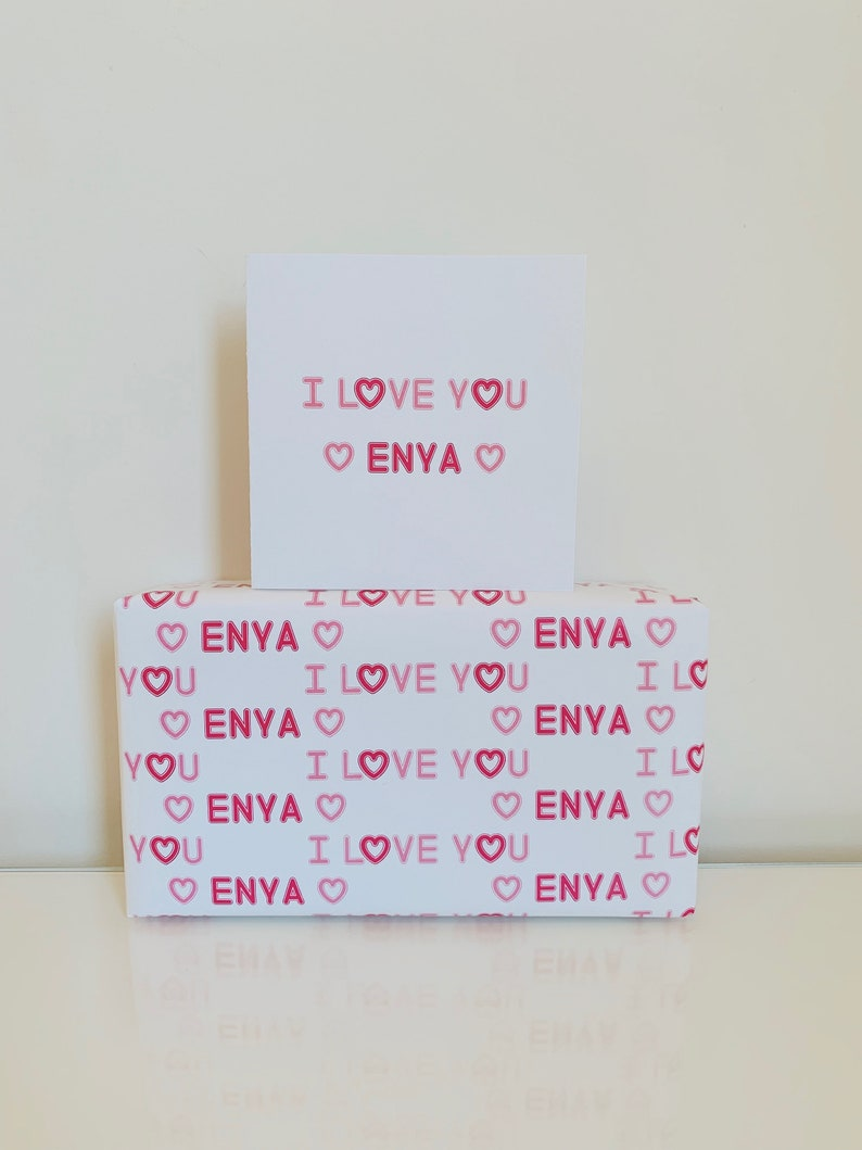 Personalised Valentine/'s Day Wrapping Paper
