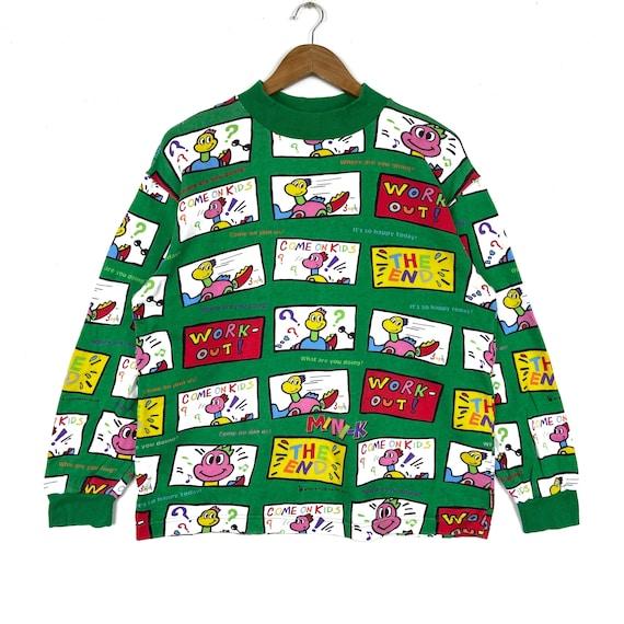 Vintage MINI-K Sweatshirt Fullprint Logo Pullover