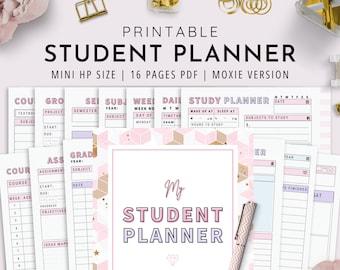 Mini HP, Student Planner Printable , Study Planner, School Planner, College Planner | Moxie Version | PDF Instant Download