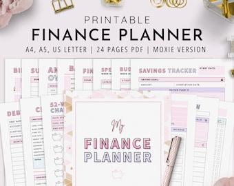 Ultimate Finance Planner, A4, A5, US Letter, Financial Planner, Printable Budget Planner, Budgeting Planner | Instant Download
