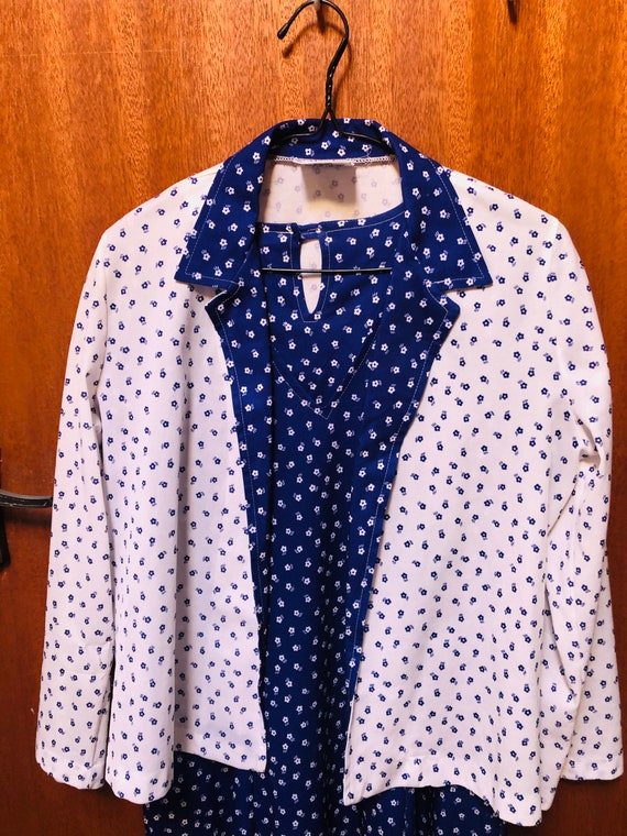 Norman hartnell 1950's dress and jacket. Size 16.
