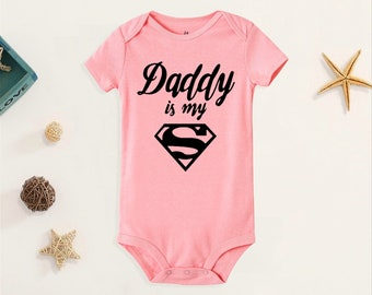 Superman Baby Clothes Outfit Baby Shower Daddy/'s Kryptonite Superman Onesies