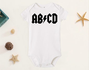 children/'s  baby t-shirt silly Toddler ABCD Funny band parody