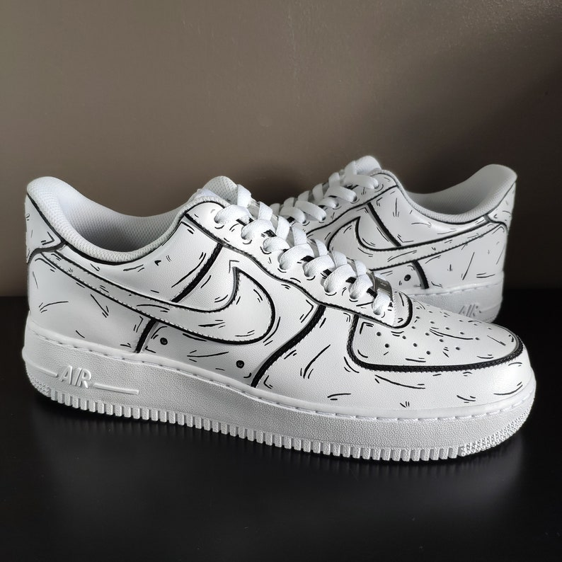 Air Force 1 Cartone animato bianco O7Xb7wZu