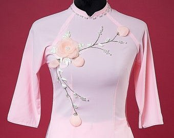 Pre-made Vietnamese Bridesmaid Ao Dai With Pants and Headpiece in Pink - Áo Dài Dâu Phụ