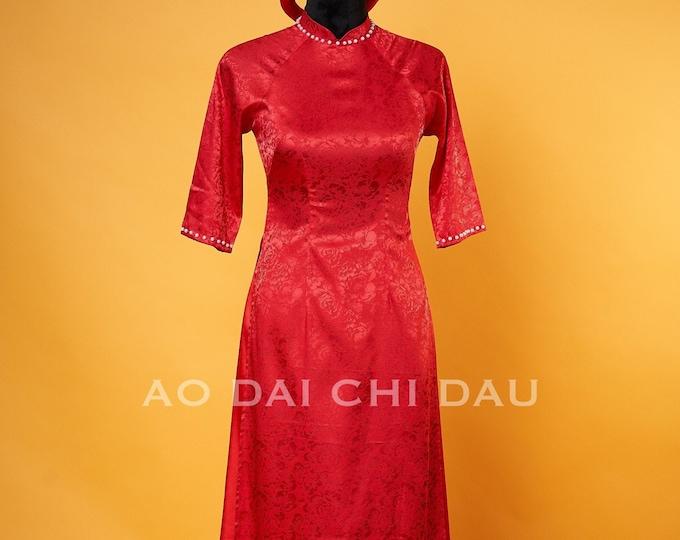 Vietnamese Bridesmaid Ao Dai With Pants - Áo Dài Phụ Dâu   Made-to-order