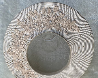 Headpiece for Vietnamese Ao Dai in Light Gold with Beautiful Details - Khăn Đống