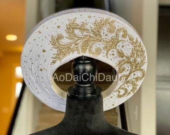 Headpiece for Vietnamese Ao Dai - Khăn Đống | Made to order