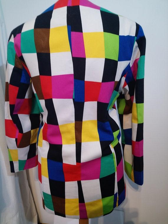 Vintage 1980s Selfridges harlequin jacket