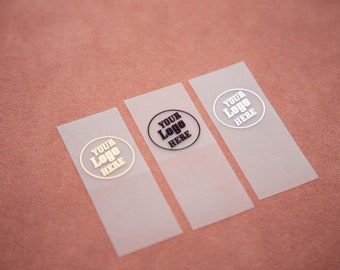 200pc Silicone TPU tags, waterproof, fabric silicone labels, Sewing labels, Fabric labels, Custom fabric tags, Label for handmade item,