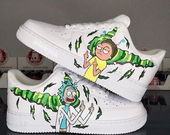 Custom Air Force Ones | Rick & Morty YouTube