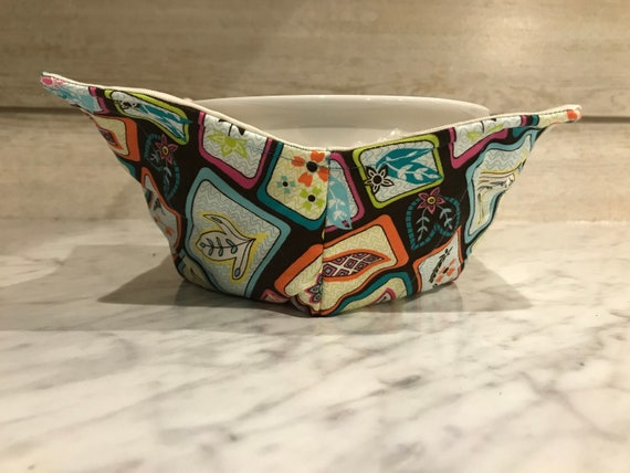 Clovers and Flowers Handmade Microwavable  Bowl Cozy