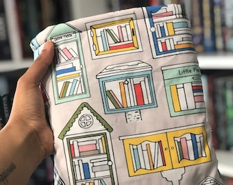 Little Free Library Booksleeve - Padded Book Sleeve - Tablet Sleeve - iPad Sleeve - Book Cover