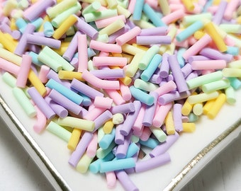 Grass Green Polymer Clay Fake Sprinkles Pick Your Amount S19 Fake Decoden Funfetti Jimmies