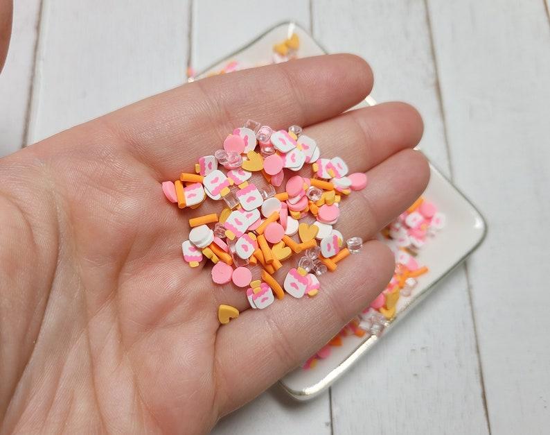 Fake Sprinkles FAKE Chilly Popsicle Sprinkle Mix Clay Sprinkles Fake Food Decoden Sprinkle