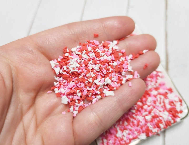 Clay Flakes Fall Sprinkles Clay Crumbs FAKE Valentine Crumble Mix Clay Shavings