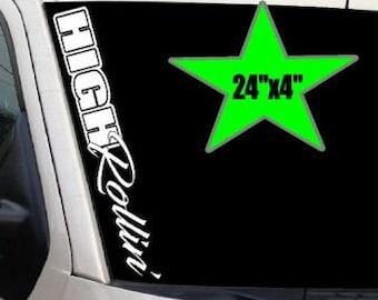 """LOWERED LIFESTYLE 24/"""" Vertical Windshield VINYL DECAL Sticker Diesel Truck Car"""