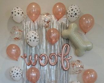 Cursive Rose Gold Fur Ever Young Balloons Pet Birthday Decorations Dog Birthday Balloons Car Birthday Balloons Pet Birthday Balloons